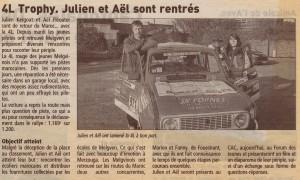 Article_presse_retour_julien_ael_4L_trophy