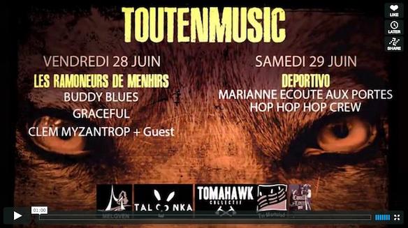 Teaser festival ToutEnMusic 2013